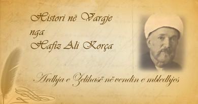48 Histori në vargje   Hafiz Ali Korça   Ardhja e Zelihasë në vendin e mbledhjes