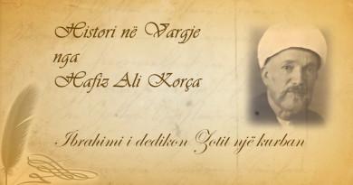 Histori në vargje 34 Hafiz Ali Korça    Ibrahimi i dedikon Zotit një kurban